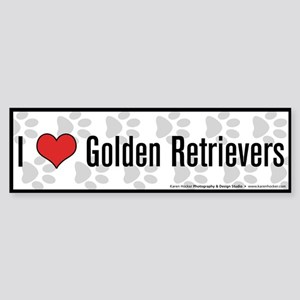 I (heart) Golden Retrievers Bumper Sticker