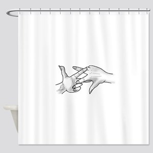 ScissaFingas Logo Shower Curtain