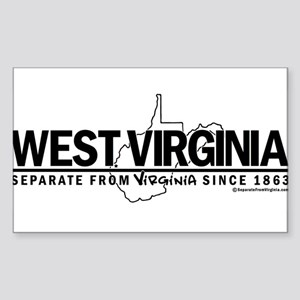 WV: Separate From VA Since 1863 Sticker (Rectangle