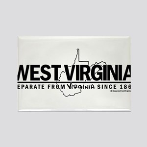 WV: Separate From VA Since 1863 Rectangle Magnet