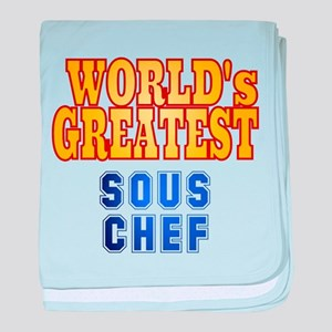 World's Greatest Sous Chef baby blanket