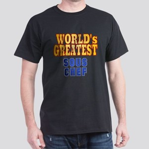 World's Greatest Sous Chef Dark T-Shirt