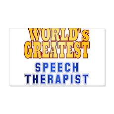 World's Greatest Speech Therapist Wall Decal