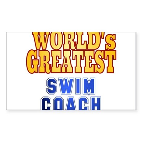 World's Greatest Swim Coach Sticker (Rectangle)