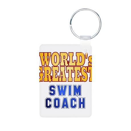 World's Greatest Swim Coach Aluminum Photo Keychai