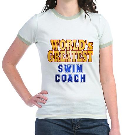 World's Greatest Swim Coach Jr. Ringer T-Shirt