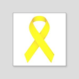 "Yellow Ribbon Square Sticker 3"" x 3"""