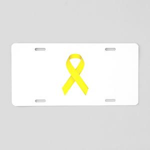 Yellow Ribbon Aluminum License Plate