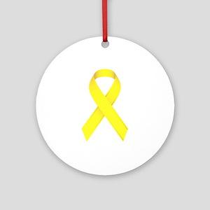 Yellow Ribbon Ornament (Round)