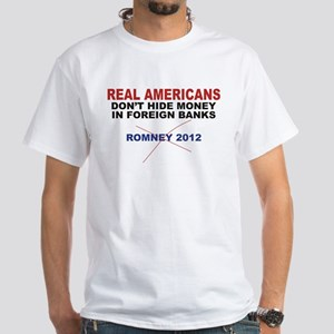 Anti Romney t-shirt Real Americans Don't Hide