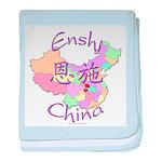 Enshi China Map baby blanket