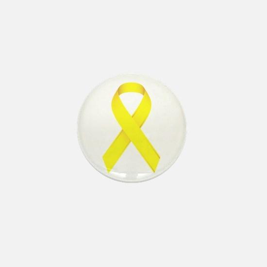 Yellow Ribbon Mini Button