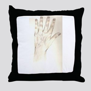 Hand to Hand Throw Pillow
