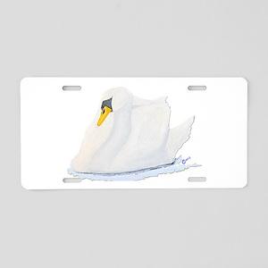 Graceful Swan Aluminum License Plate