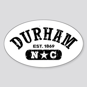 Durham NC Sticker (Oval)