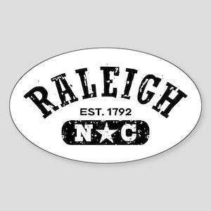Raleigh NC Sticker (Oval)