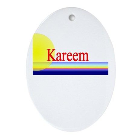 Kareem Oval Ornament