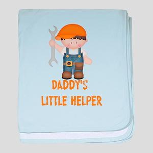 Daddys Little Helper baby blanket