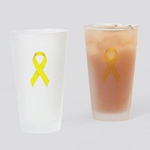 Yellow Ribbon Drinking Glass