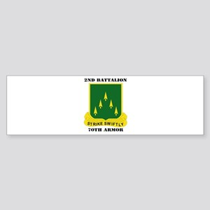 SSI - 2nd Battalion, 70th Armor with Text Sticker