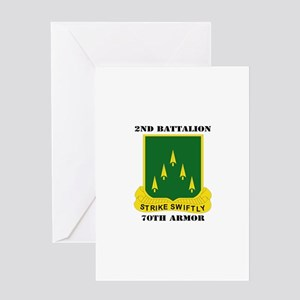 SSI - 2nd Battalion, 70th Armor with Text Greeting