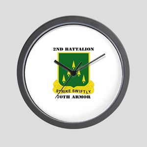 SSI - 2nd Battalion, 70th Armor with Text Wall Clo
