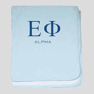 ElitistFucks Epsilon Phi Logo baby blanket