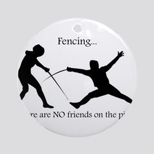 No friends Ornament (Round)