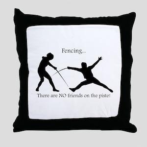 No friends Throw Pillow