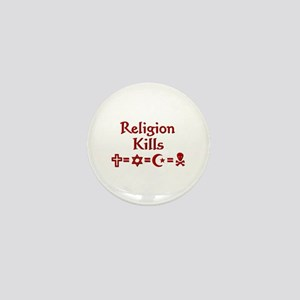 Religion Kills Mini Button