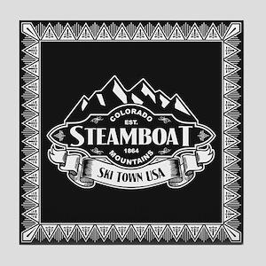 Steamboat Mountain Emblem Tile Coaster