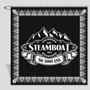 Steamboat Mountain Emblem Shower Curtain