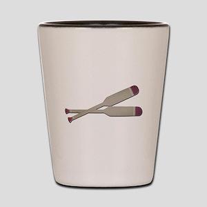 Brown Oars Shot Glass