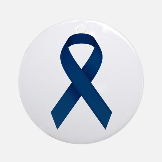 Blue Ribbon Ornament (Round)