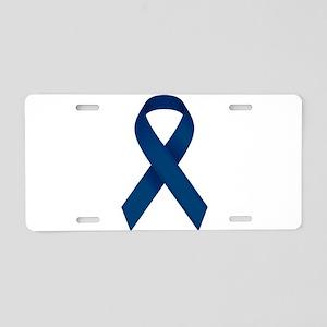 Blue Ribbon Aluminum License Plate