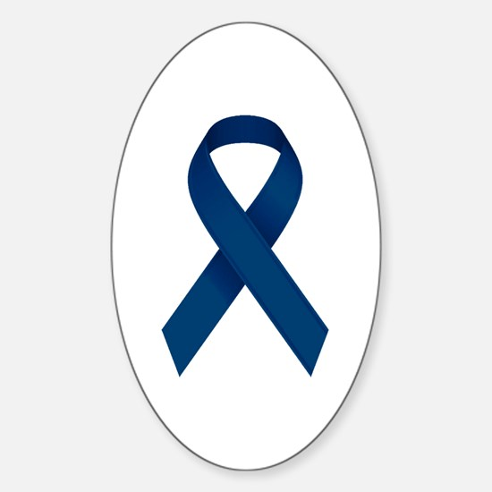 Blue Ribbon Sticker (Oval)