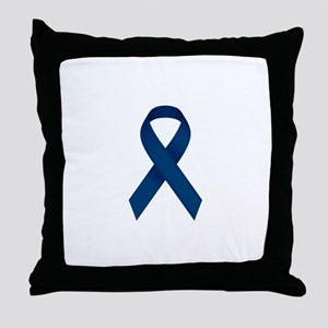 Blue Ribbon Throw Pillow