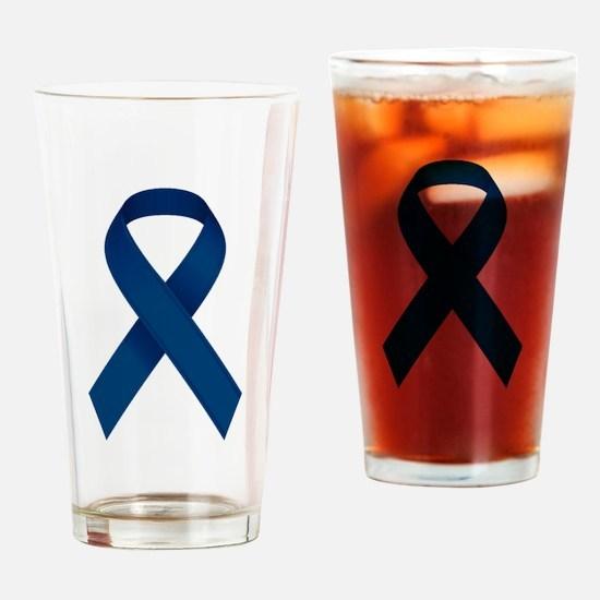 Blue Ribbon Drinking Glass