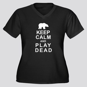 Keep Calm and Play Dead Women's Plus Size V-Neck D