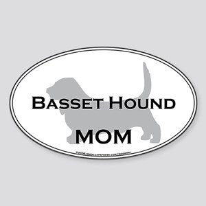 Basset Hound MOM Oval Sticker