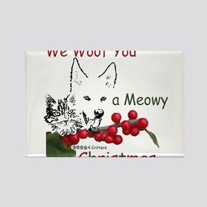 Paws4Critters We Woof You a Meowy Christmas Rectan