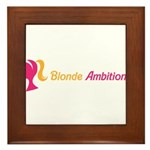 Blonde Ambitions Framed Tile