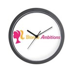 Blonde Ambitions Wall Clock