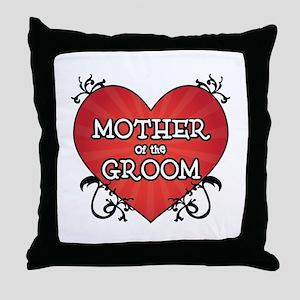 Tattoo Heart Mother Groom Throw Pillow