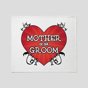 Tattoo Heart Mother Groom Throw Blanket