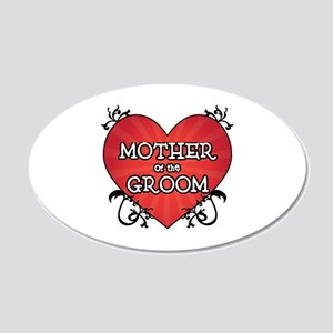 Tattoo Heart Mother Groom 20x12 Oval Wall Decal