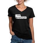 Carl Sagan Starstuff Women's V-Neck Dark T-Shirt