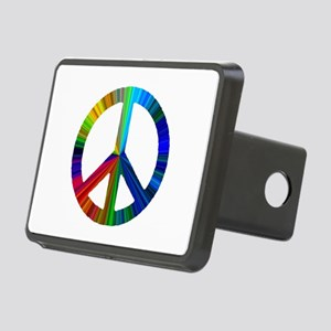 PEACE sign prism Rectangular Hitch Cover