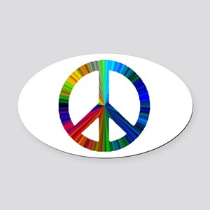 PEACE sign prism Oval Car Magnet