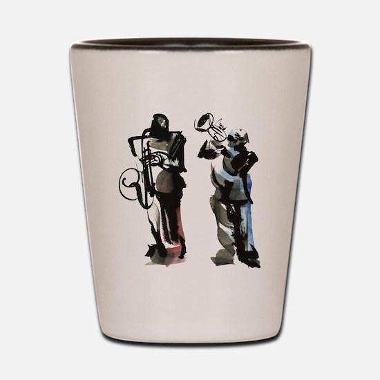 Jazz musicians Shot Glass